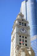 Chicago Photography Posters - Chicago Clock Tower Poster by Frank Romeo