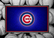 Baseball Bat Photo Framed Prints - Chicago Cubs Framed Print by Joe Hamilton