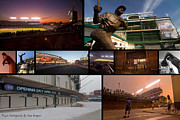 Sven Brogren Prints - Chicago Cubs Photo Collage Print by Sven Brogren