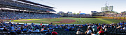 Cubs Baseball Park Prints - Chicago Cubs PreGame Time Panorama Print by Thomas Woolworth