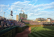 Cubs Baseball Park Prints - Chicago Cubs Scoreboard 03 Print by Thomas Woolworth