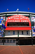 Intersection Posters - Chicago Cubs - Wrigley Field Poster by Frank Romeo