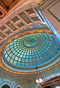 Chicago Cultural Center Tiffany Dome Print by Kevin Eatinger