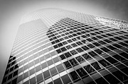 Black Top Framed Prints - Chicago Curved Building in Black and White Framed Print by Paul Velgos