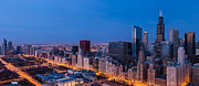 Chicago Illinois Photo Posters - Chicago Dawn Poster by Steve Gadomski