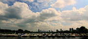 Boats In Harbor Prints - Chicago - Diversey Harbor Print by Greg Thiemeyer