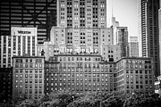 Drake Framed Prints - Chicago Drake Hotel in Black and White Framed Print by Paul Velgos
