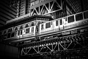 Chicago Black White Posters - Chicago Elevated  Poster by Paul Velgos