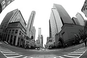 Chicago Prints Framed Prints - Chicago Fisheye Framed Print by John Rizzuto
