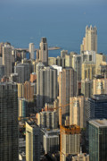 Unique View Prints - Chicago from above - What a view Print by Christine Till