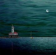 Chicago Harbor Lighthouse Print by Andrew Wells