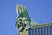 Office Buildings Prints - Chicago - Harold Washington Library Print by Christine Till