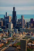 Chicago Highways 05 Print by Thomas Woolworth