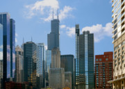 Red White And Blue Prints - Chicago - Its Your Kind of Town Print by Christine Till
