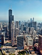 Skyline Photo Prints - Chicago Print by Jeff Lewis