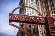 Jewelers Framed Prints - Chicago Jewelers Row Sign  Framed Print by Paul Velgos