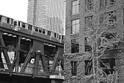 Black And White Art - Chicago L  by Joshua Eiermann