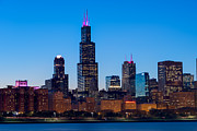 Hilton Prints - Chicago Lakefront Blues Print by Steve Gadomski
