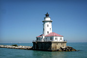 White River Scene Framed Prints - Chicago Lighthouse Framed Print by Julie Palencia