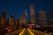 Light Aqua Prints - Chicago Lights Print by Steve Gadomski