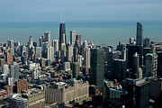 Chicago Bulls Photo Prints - Chicago Looking East 03 Print by Thomas Woolworth