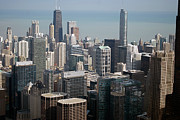 Chicago Bulls Photo Prints - Chicago Looking East 05 Print by Thomas Woolworth