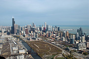 Chicago Bulls Photo Prints - Chicago Looking North 02 Print by Thomas Woolworth