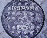 Kat Griffin - Chicago man-hole in grey