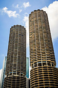 Circular Photos - Chicago Marina City Towers by Paul Velgos