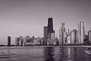 Chicago Originals - Chicago Morning BW by Steve Gadomski