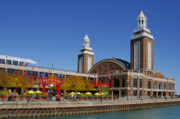 Amusement Park Posters - Chicago Navy Pier Headhouse Poster by Christine Till