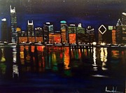 Brindha Naveen - Chicago Night Skyline