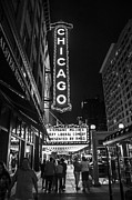 Brightly Lit Framed Prints - Chicago Nights Framed Print by Terry Rowe