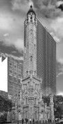 Cityscape Posters - Chicago - Old Water Tower Poster by Christine Till