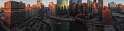 Chicago On The River Print by Steve Gadomski