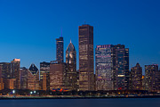 """blue Sunset"" Prints - Chicago Parkside Print by Steve Gadomski"