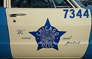 Police Art Prints - Chicago PD Squad Car Door Print by Thomas Woolworth