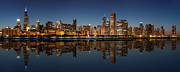 City Scape Metal Prints - Chicago Reflected Metal Print by Semmick Photo