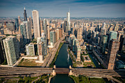 Aerial Originals - Chicago River Aloft by Steve Gadomski