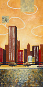 Skylines Mixed Media - Chicago River I by Sandra Neumann Wilderman
