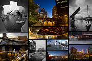 Riverwalk Posters - Chicago RIver Photo Collage Poster by Sven Brogren