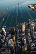 Aerial Posters - Chicago Shadows Poster by Steve Gadomski