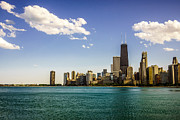 Gold Coast Posters - Chicago Skyline and Chicago Lakefront Poster by Paul Velgos