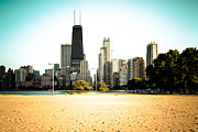 Color Lincoln Framed Prints - Chicago Skyline at North Avenue Beach Photo Framed Print by Paul Velgos