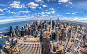 Chicago Bulls Photo Prints - Chicago Skyline Print by Chris Austin