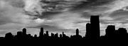 Chicago Skyline Bw Metal Prints - Chicago Skyline Metal Print by Derek Bacigal