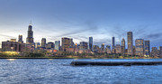 Chicago Skyline Print by Drew Castelhano