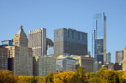 Monroe Photos - Chicago skyline from Millenium Park II by Christine Till