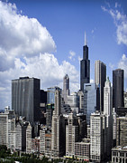 Julie Palencia Photography Posters - Chicago Skyline from Randolph Poster by Julie Palencia