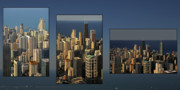 Collages Posters - Chicago Skyline from Willis Tower Poster by Christine Till
